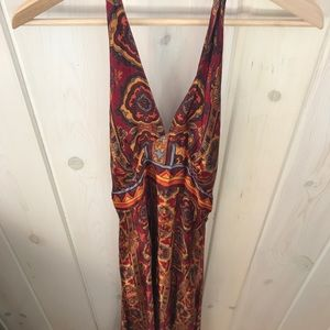 Vintage Boho Hippy Halter Dress